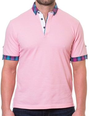 Pink Casual Sport Polo