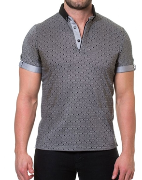 Gray Short sleeve Polo