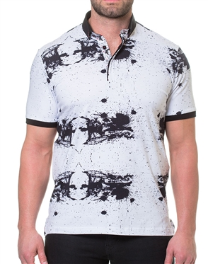 Black White Fashion Polo