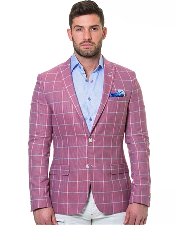 Salmon Purple Blazer