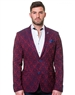 Luxury Burgundy Blazer