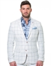 White Blue Check Blazer