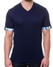 Dark Navy Fashion V-Neck Shirt