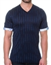 Navy Blue Fashion V-Neck Shirt