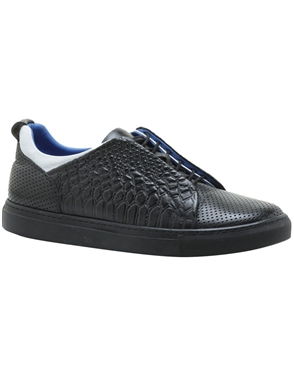 Black Cobra Fabric Shoes