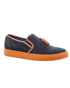 Navy Orange Suede Shoes