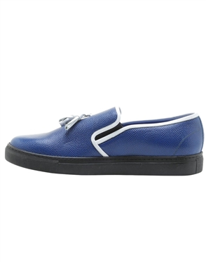 Men Shoes- Blue Slip On Designer Sneakers