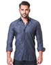 Gray Geometric Jacquard dress Shirt