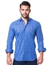 Blue Jacquard Square Dress shirt