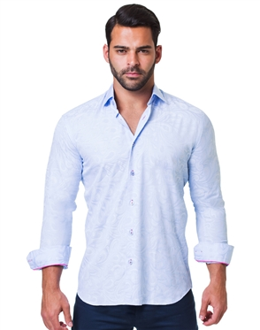 Blue Jacquard dress shirt