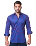 Royal Blue Designer Dress shirt