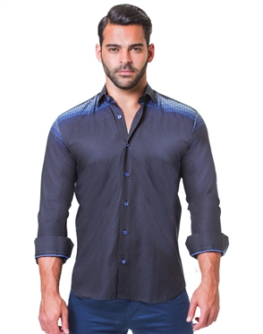 Navy Casual Sport Shirt
