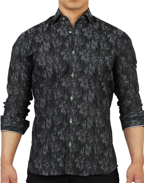 Elegant Maceoo Fibonacci Camouflage Grey Dress Shirt