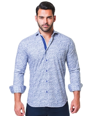 Slim Fit Blue Woven