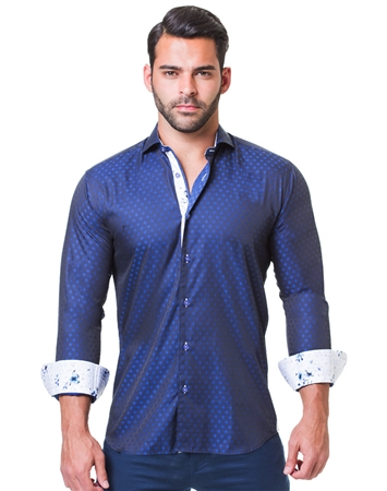 Stylish Navy Dress Shirt