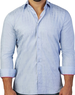 Elegant Maceoo Fibonacci Bloom Blue Dress Shirt