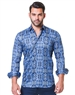 Fashionable Blue Dress Shirt