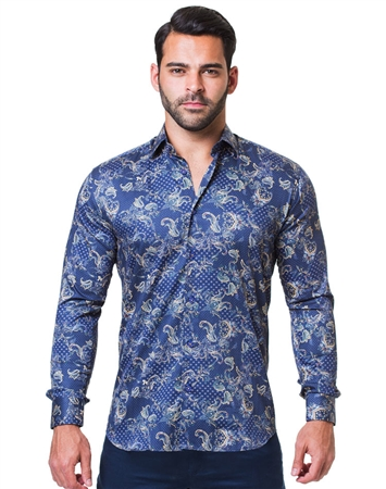 men pailsey Floral Shirt