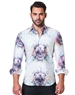 White Multi Color Skull Print Shirt