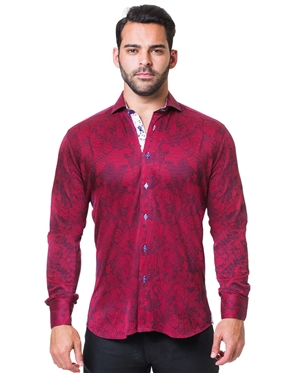 Stylish Red Button-up Polo