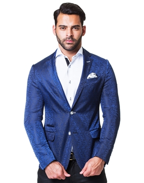 Luxury Blue Suit Jacket