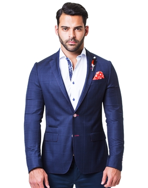 Modern Blue Check Sport Jacket