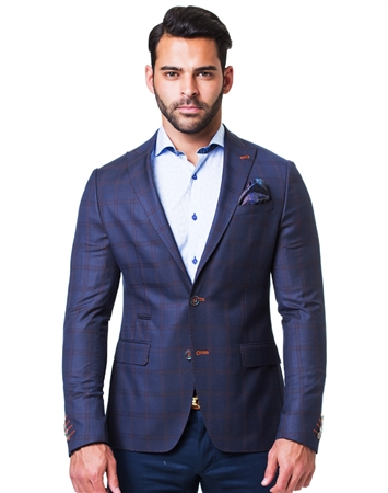 Dark Blue Check Jacket