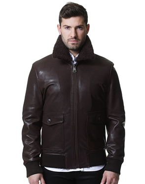 Brown Aviator Style Jacket