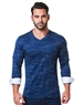 Unique Navy Check V-Neck