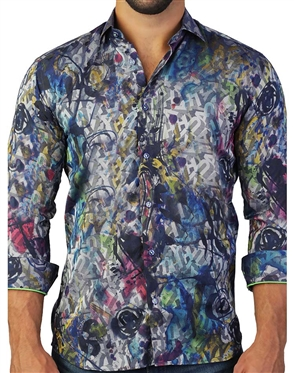 Designer Multi-Colored Dress Shirt