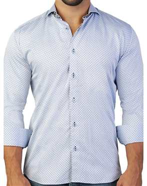 Light Blue Business Casual Shirt