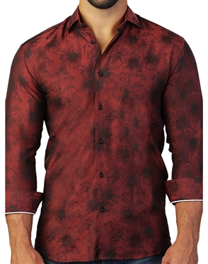 Exclusive Designer Red Dress Shirt