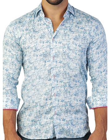 Light Blue Paisley Dress Shirt