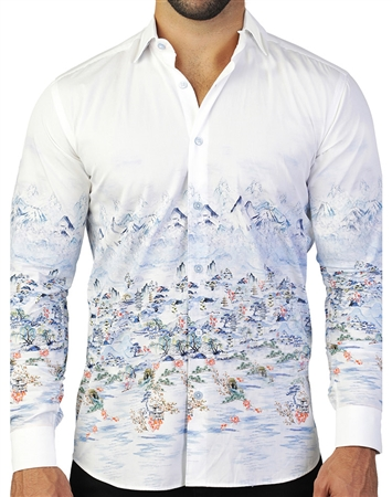 European White Fashion Shirt