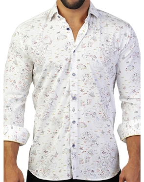 Eye-Catching White Dress Shirt