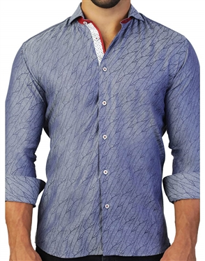 Modern Blue Dress Shirt