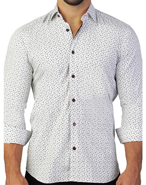 White Lightening Print Button Down
