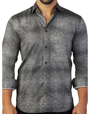 Black Mosaic Print Button Down
