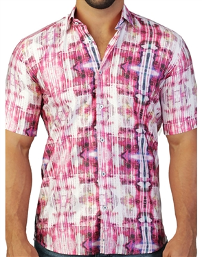 Dreamy Pink Short Sleeve Woven