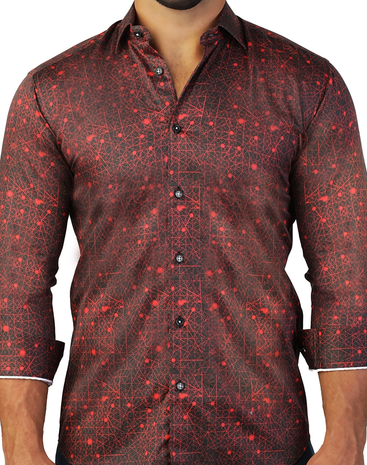 8c8a2004c46b26 Fascinating Black And Red Dress Shirt | Fashionable Men's Shirt ...