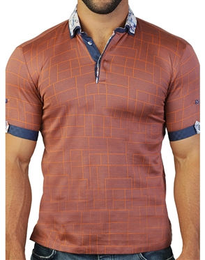 Designer Orange Polo