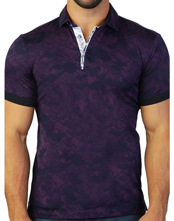 Designer Purple Polo