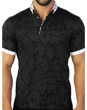 Designer Black Polo