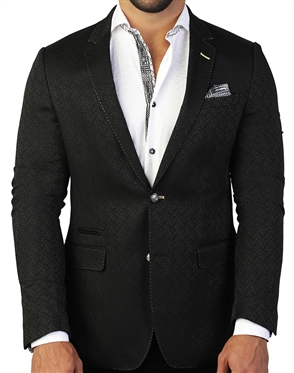 Mens Designer Black Sport Coat