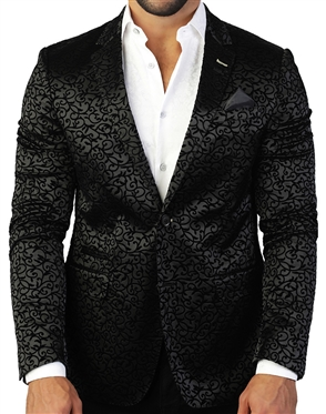 Elegant And Sporty Black Sport Coat