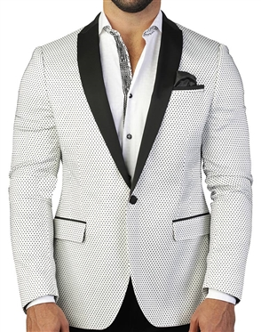 Sporty White Dot Blazer