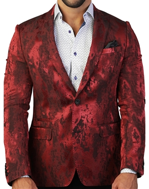 Fiery Red Blazer