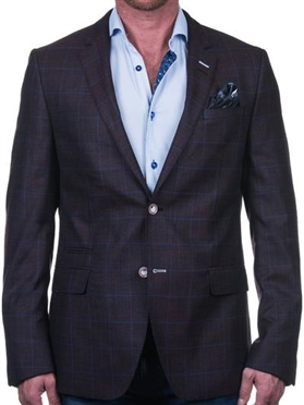 Blue Damask Blazer