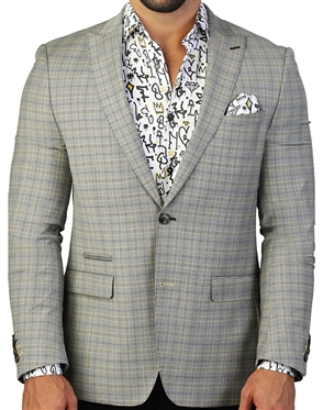 Yellow Check Blazer