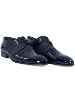 Black Designer Fashion Dress Shoes | Classic Perforated Dress Shoes